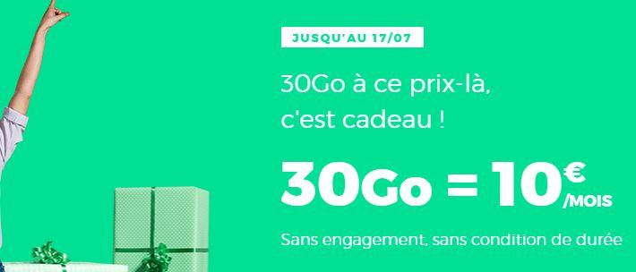 Le forfait RED by SFR 30 Go à 10 euros joue les prolongations !