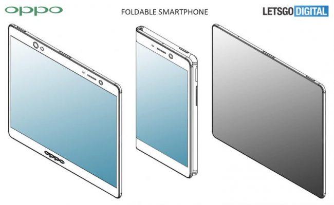 Un brevet de smartphone pliable Oppo