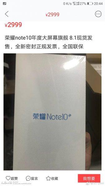 Le Honor Note 10 aurait le même prix que le Honor 10 !