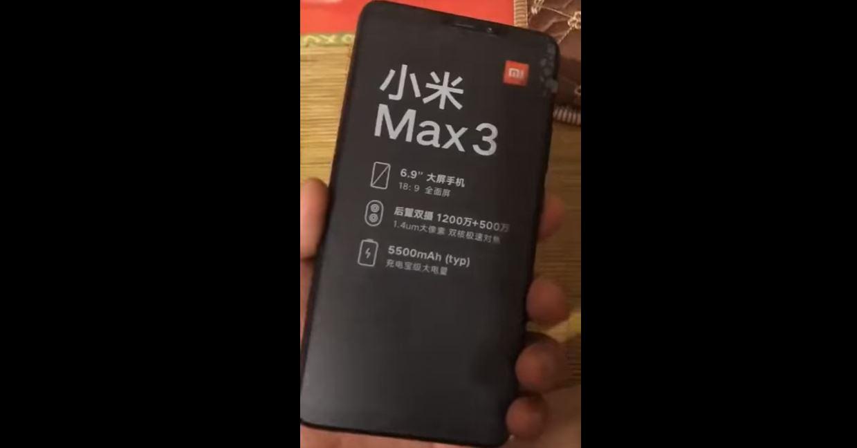 La fiche technique du Xiaomi Mi Max 3 fuite et ça donne envie !