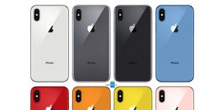iPhone 2018 couleurs