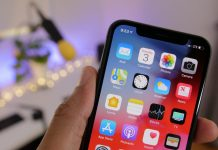 iOS 12 sur un iPhone X