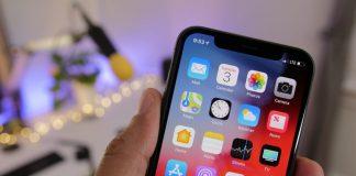 iOS 12 sur un iPhone X