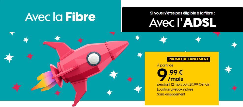 Sosh lance une box fibre et ADSL à moins de 10 euros !