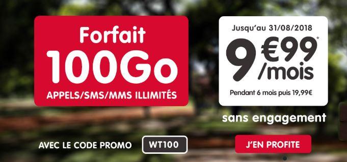 Forfait 100 Go de NRJ Mobile