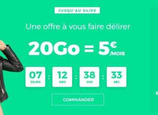 Forfait 20 Go de RED à 5 euros par mois