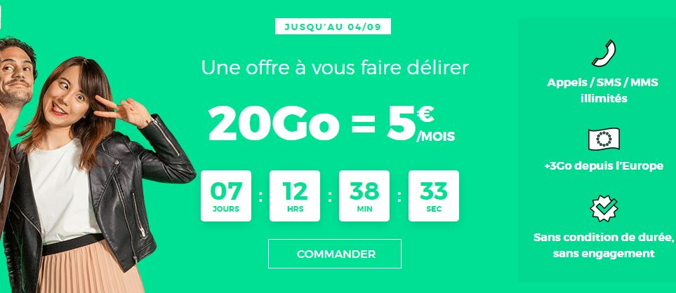 RED by SFR affiche un forfait 20 Go à 5 euros !