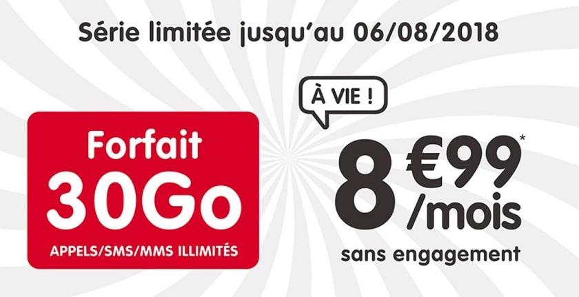 NRJ Mobile lance un forfait 30 Go à 8.99 euros à vie sur Showroomprivé !