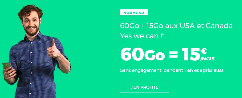 Dernières heures pour profiter du forfait RED illimité 60 Go à 15 euros !