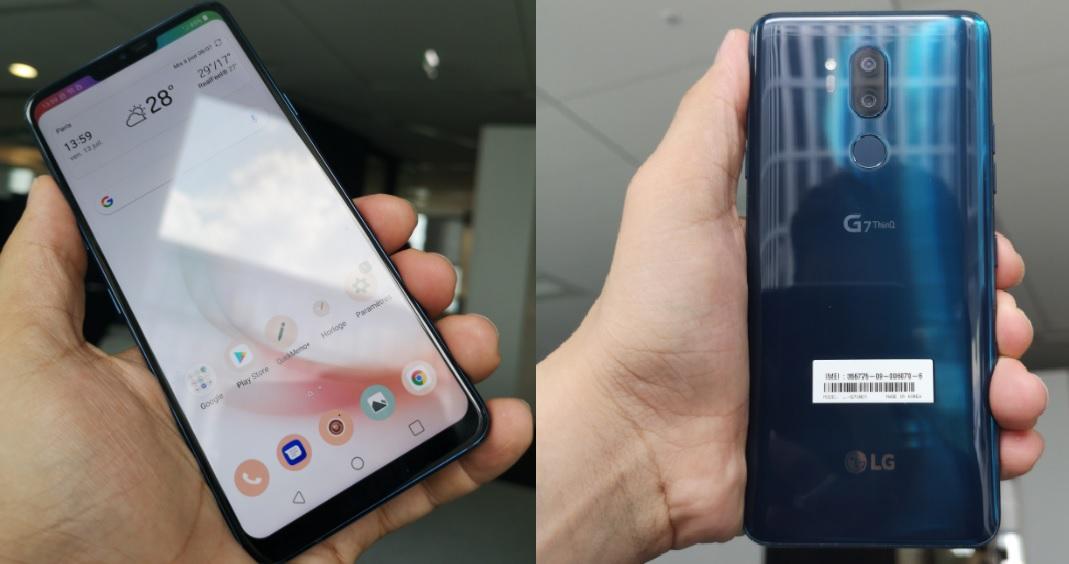 LG G7 ThinQ : de très belles finitions