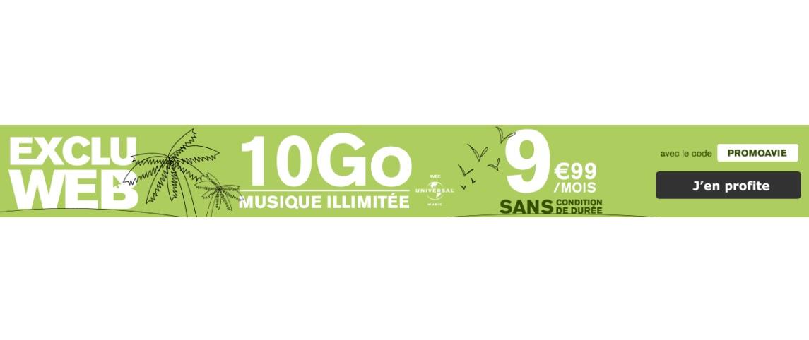La Poste Mobile lance un forfait 10 Go avec musique illimitée à 9.99 euros !