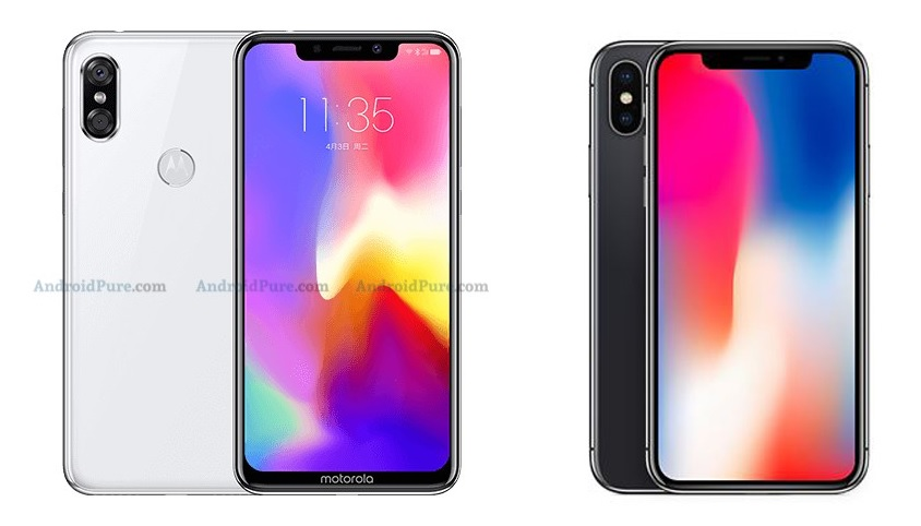 Motorola P30 vs iPhone X
