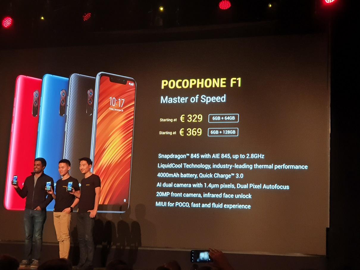 Pocophone F1 : le prix des deux versions