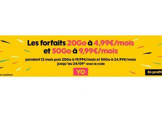 Promo sur les forfaits Sosh 20 Go et 50 Go