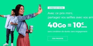 RED by SFR propose 40 Go dans son forfait à 10 euros