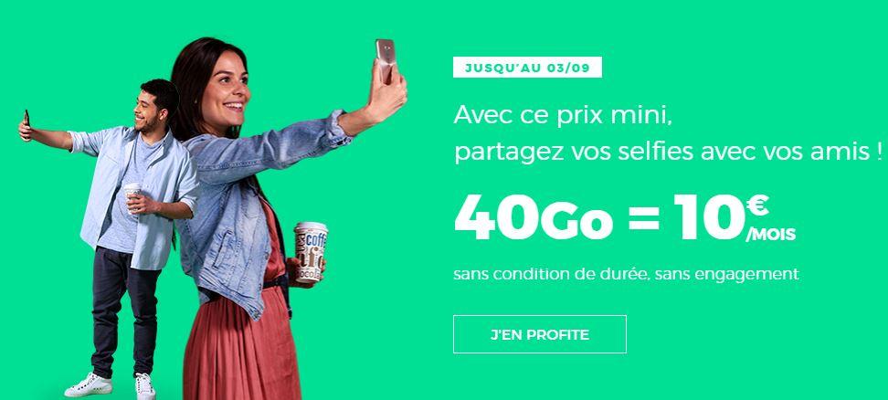 RED by SFR : 40 Go au lieu de 1 Go dans un forfait à 10 euros !