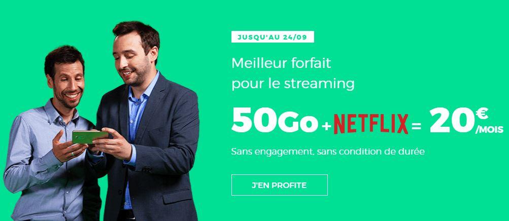 RED by SFR affiche un forfait 50 Go avec Netflix pour 20 euros !