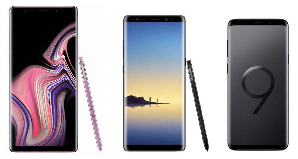 Samsung Galaxy Note 9 vs Galaxy Note 8 vs Galaxy S9+ : qu'est-ce qui change ?