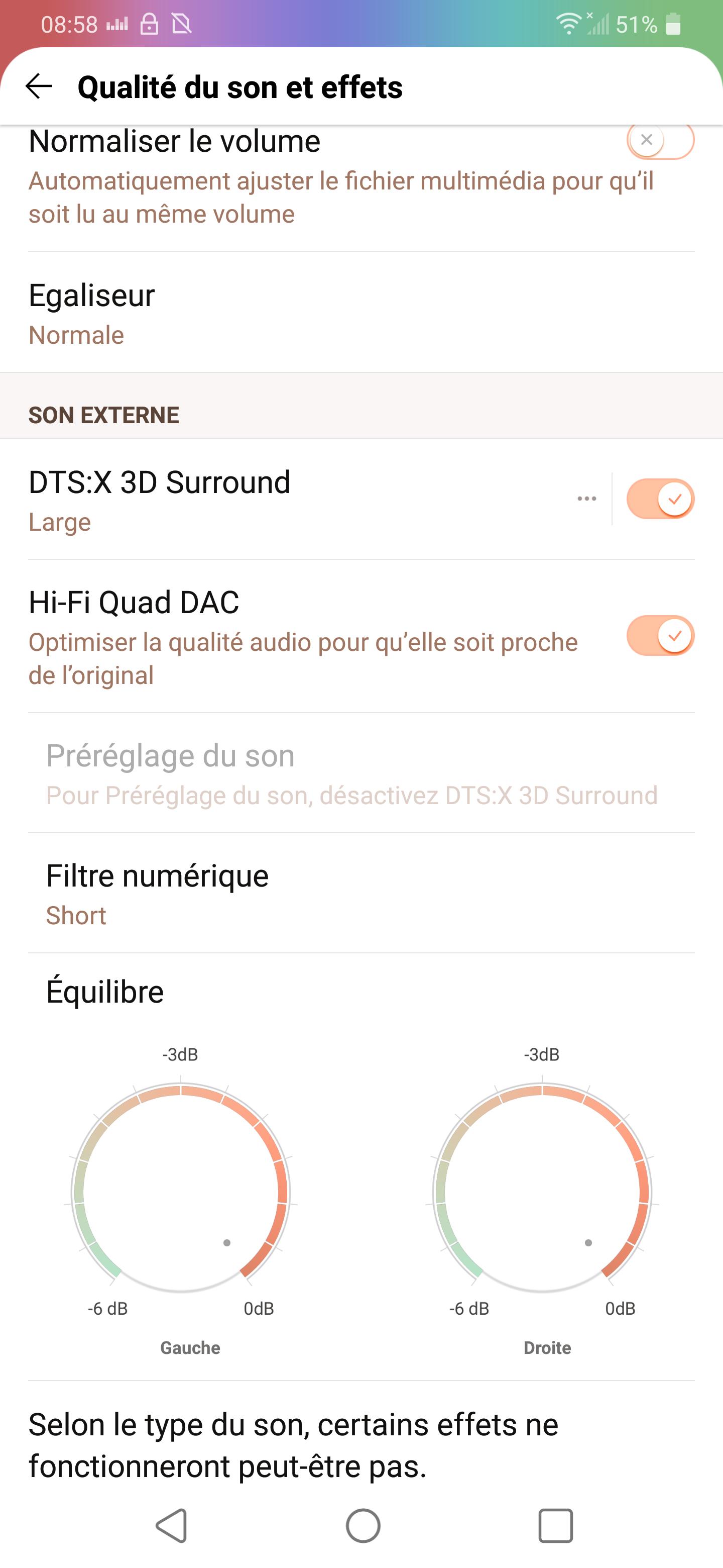 LG G7 ThinQ : de nombreux paramètres à bidouiller