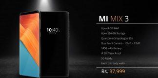 Xiaomi Mi Mix 3 - Source : Slashleaks