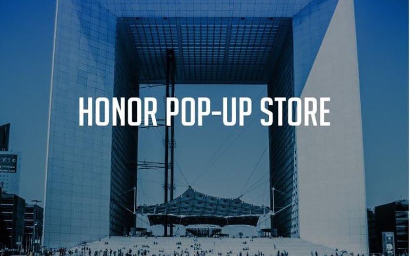 Essayez des produits Honor dans un magasin éphémère à Paris