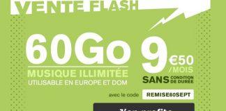 Vente flash La Poste Mobile forfait 60 Go