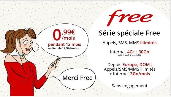 Bon plan Vente Privée : Free Mobile lance un forfait 30 Go à 0.99 euro