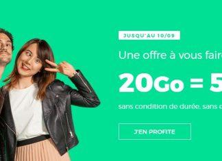 Forfait RED 20 Go à 5 euros par mois