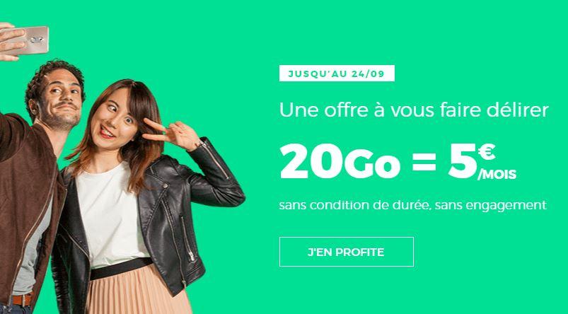 Forfait RED 20 Go 5 euros