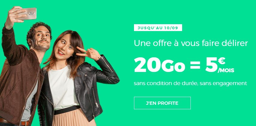 RED by SFR prolonge son forfait 20 Go à 5 euros !