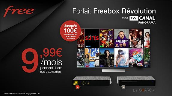 Vente Privée n'en finit pas de prolonger l'offre Freebox Revolution avec TV by Canal à 9.99 euros