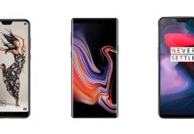 Huawei P20 Pro, Samsung Galaxy Note 9 et OnePlus 6