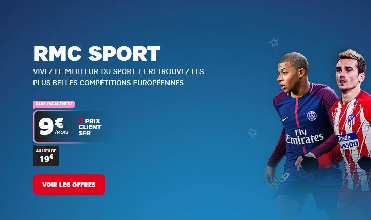 RMC Sport : 100% de la Champions League et de la Premier League pour 9 euros par mois