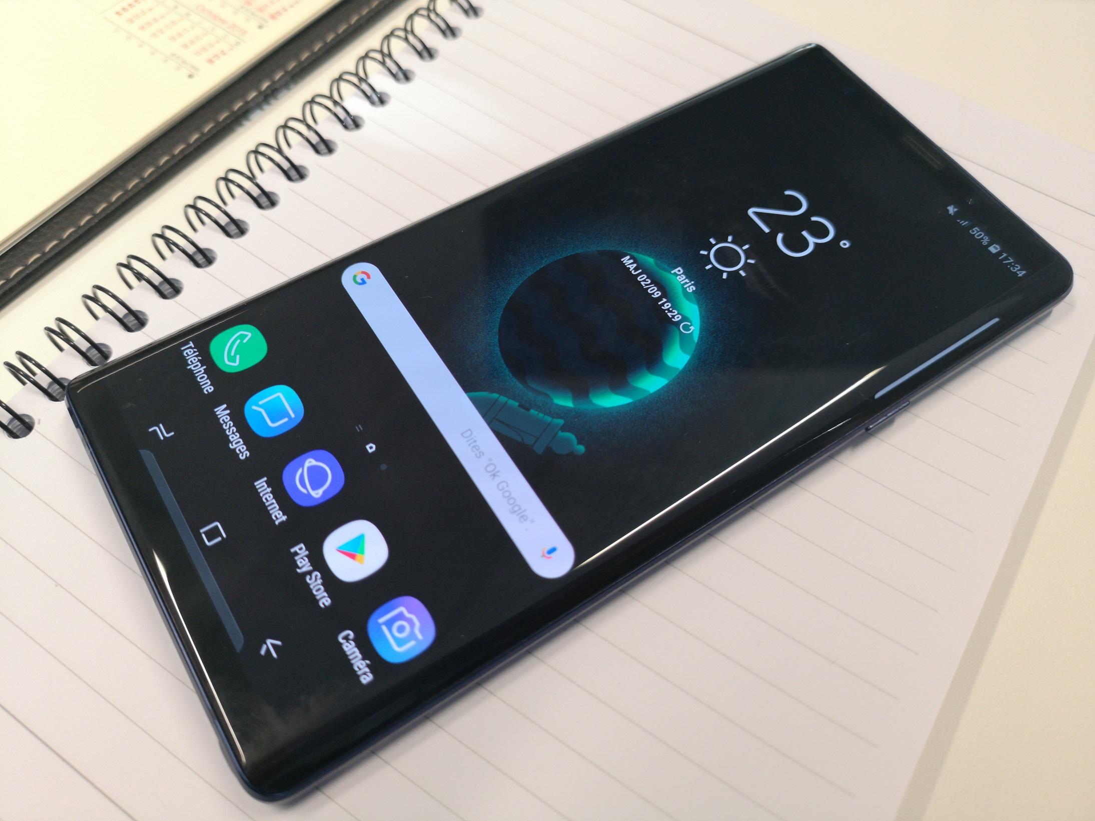 Samsung Galaxy Note 9 : un sublime écran
