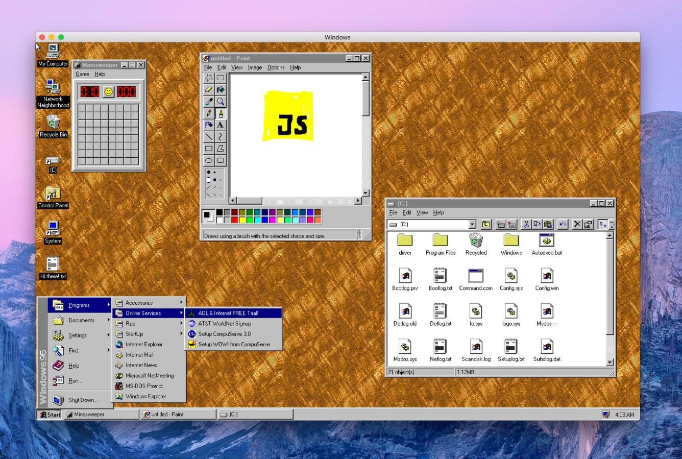 Windows 95 est de nouveau d'actualité grâce à une application