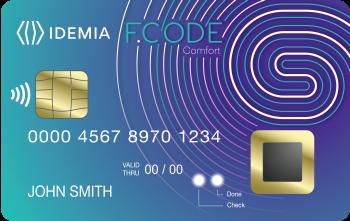 Idemia développe une carte bancaire biométrique avec lecteur d'empreintes ?