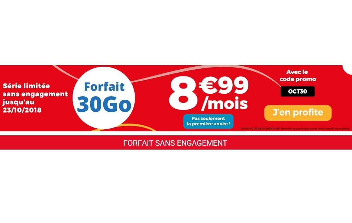 Bon plan : forfait 30 Go Auchan Telecom à 8.99 euros !