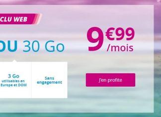 Forfait B&YOU 30 Go à 9.99 euros