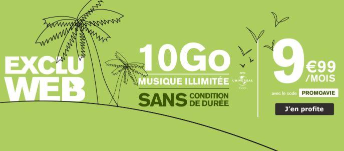 Le forfait 10 Go La Poste Mobile avec musique illimitée est toujours à 9.99 euros !