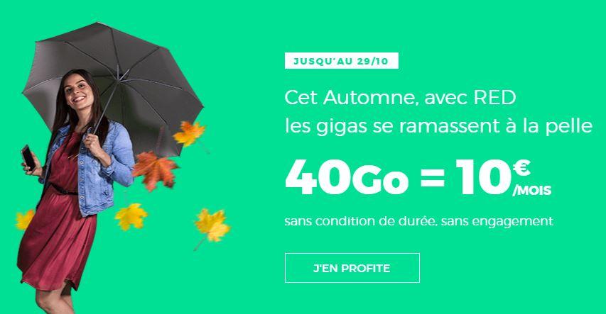 Un forfait 40 Go pour 10 euros, c'est chez RED by SFR que ça se passe !