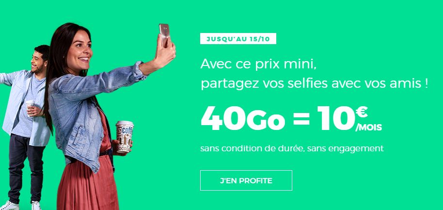 RED by SFR relance son forfait 40 Go à 10 euros !
