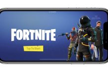 Fortnite sur un iPhone X