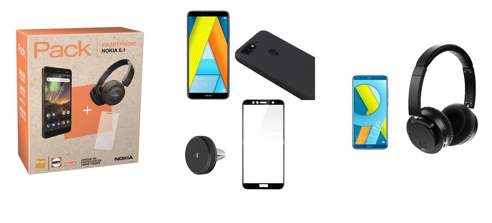 Les Jours Fnac : des packs Nokia 6.1, Honor 7A et Honor 9 Lite en promo !