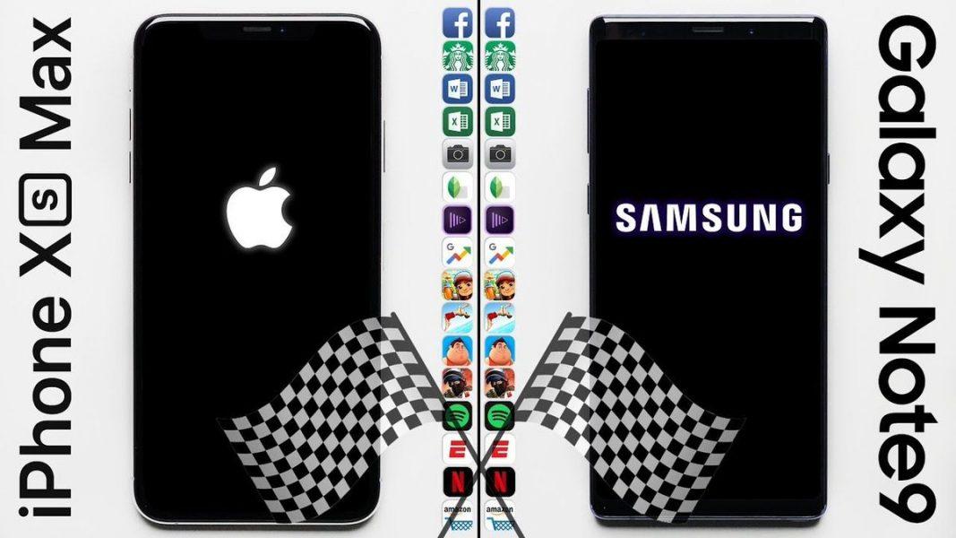 Duel entre l'Apple iPhone Xs Max et le Samsung Galaxy Note9, l'iPhone est beaucoup plus rapide