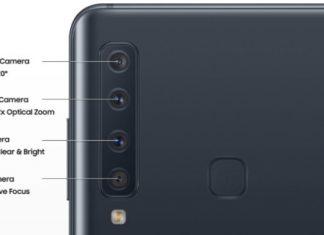 Samsung Galaxy A9 2018 : la configuration du quadruple capteur photo
