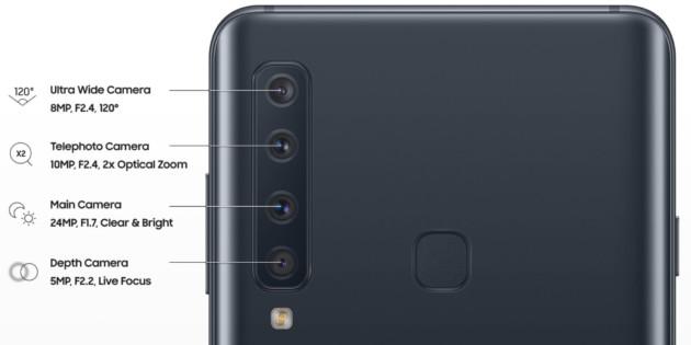 Galaxy A9 2018 : la fiche technique du smartphone à 4 capteurs photo fuite !