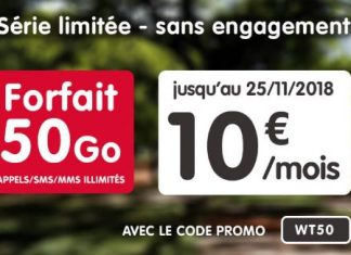 Forfait NRJ Mobile 50 Go en promo
