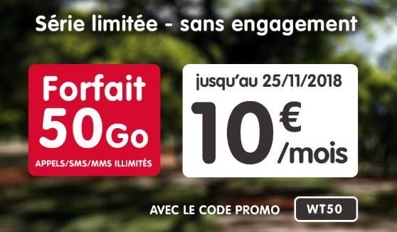 Black Friday : la série limitée 50 Go à 10 euros de NRJ Mobile est toujours là !