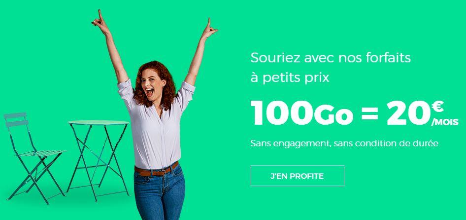 RED by SFR affiche un forfait 100 Go à 20 euros