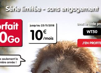 Forfait sans engagement 50 Go NRJ Mobile